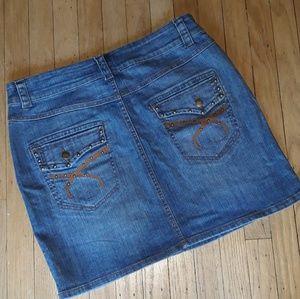 Cache Studded Denim Mini Skirt 12